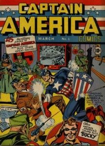 Captain America punching nazis