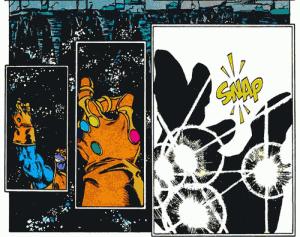 Infinity Gauntlet Thanos Snaps