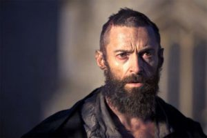 Hugh Jackman playing Wolverine in Les Miserables