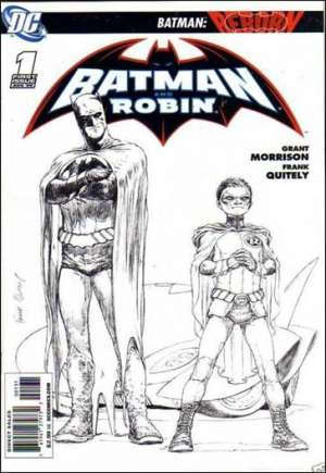 Black and White of Quitely Cover