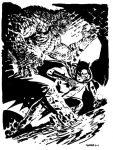 Batman Rogue Killer Croc sketch by Chris Samnee