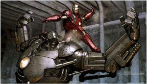 Colored Iron Man Art by Adi Granov
