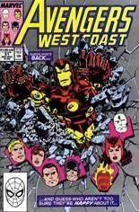 Avengers West Coast (1989-1994) #51 Variant B: Direct Edition