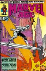 Marvel Age (1983-1994) #71: Sliver Surfer by Moebius