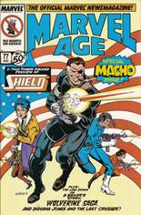 Marvel Age (1983-1994) #77: Special Macho Issue; S.H.I.E.L.D. 5-page preview