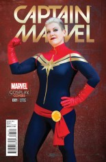 Captain Marvel (2016-2017) #1 Variant E: Incentive Cosplay Variant Cover