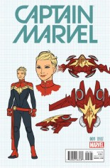 Captain Marvel (2016-2017) #1 Variant F: Incentive Design Variant Cover