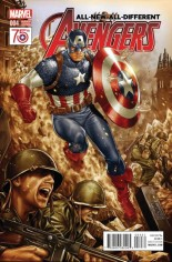 All-New, All-Different Avengers (2016-Present) #4 Variant C: Incentive Captain America 75th Anniversary Variant Cover