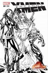 Uncanny X-Men (2016-2017) #1 Variant E: Interlocking Variant Sketch Cover