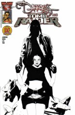 Darkness and Tomb Raider #1 Variant D: Dynamic Forces Black & White Cover