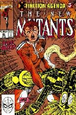 New Mutants (1983-1991) #95 Variant C: 2nd Printing; Gold Cover