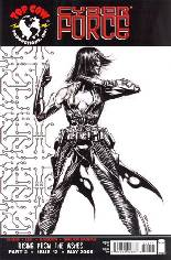 Cyberforce (2006) #2 Variant C: Incentive Black & White Cover