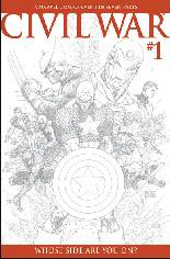 Civil War (2006-2007) #1 Variant C: Sketch Variant Cover