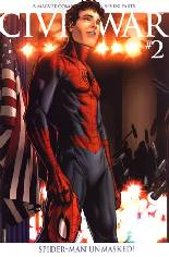 Civil War (2006-2007) #2 Variant D: 2nd Printing; Spider-Man Unmasked Variant