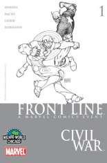 Civil War: Front Line (2006-2007) #1 Variant B: Wizard World Chicago Sketch Variant