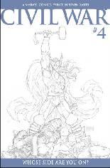 Civil War (2006-2007) #4 Variant C: Sketch Variant Cover