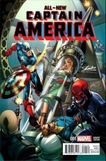 All-New Captain America (2015) #1 Variant S: Stan Lee Collectibles J. Scott Campbell Variant Color
