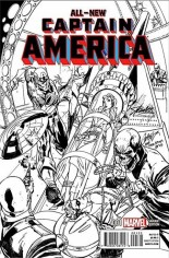 All-New Captain America (2015) #1 Variant T: Stan Lee Collectibles J. Scott Campbell Variant B&W