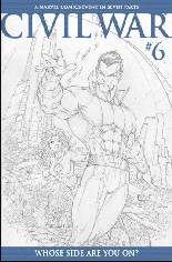 Civil War (2006-2007) #6 Variant C: Sketch Variant Cover