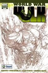 World War Hulk (2007-2008) #1 Variant C: Diamond 25th Anniversary Retailer Incentive Sketch Variant