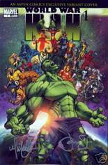 World War Hulk (2007-2008) #1 Variant G: Aspen Comics Exclusive Variant; Signed by Michael Turner and Peter Steigerwald; Limited to 2500 Copies