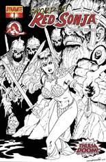 Sword of Red Sonja: Doom of the Gods #1 Variant E: Sketch Cover