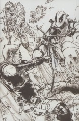Civil War II (2016) #0 Variant B: Black & White Virgin Connecting A Cover
