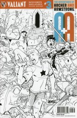 Adventures Of Archer And Armstrong #3 Variant F: Variant Sketch Cover