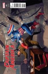 Captain America Steve Rogers #1 Variant G: Incentive Captain America 75th Anniversary Variant Cover