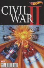 Civil War II (2016) #1 Variant I: Incentive Hot Wheels Variant Cover