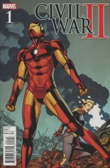 Civil War II (2016) #1 Variant J: Incentive Battle Variant Cover