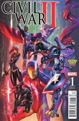 Civil War II (2016) #1 Variant K: Midtown Comics Exclusive Variant Cover