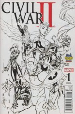 Civil War II (2016) #1 Variant M: Midtown Comics Exclusive Sketch Variant Cover