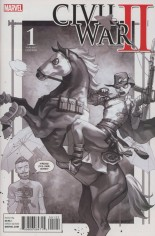 Civil War II (2016) #1 Variant P: Incentive Party Sketch Cover