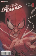 Civil War II: Amazing Spider-Man (2016) #1 Variant D: Incentive Character Variant Cover