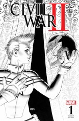 Civil War II (2016) #1 Variant T: Fan Expo Variant Sketch Cover