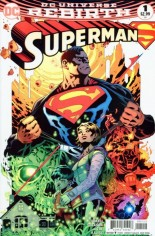 Superman (2016-2018) #1 Variant C: Second Print, Variant Cover