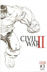 Civil War II (2016) #3 Variant E: Midnight Launch Cover Unbagged