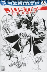 Justice League (2016-2018) #1 Variant D: Midtown Comics Exclusive Black & White Cover