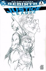 Justice League (2016-2018) #1 Variant F: AspenStore.com Exclusive Sketch Variant Cover