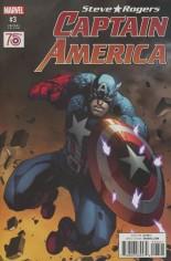 Captain America Steve Rogers #3 Variant D: Incentive Captain America 75th Anniversary Variant Cover