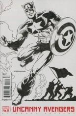 Uncanny Avengers (2015-Present) #11 Variant B: Variant Captain America Cover