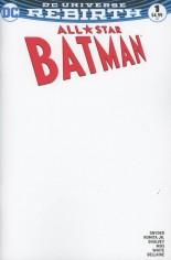 All-Star Batman (2016-2017) #1 Variant E: Blank Cover