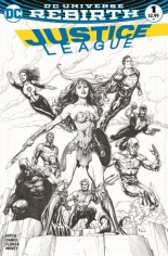 Justice League (2016-2018) #1 Variant H: Fried Pie Exclusive Variant Sketch Cover
