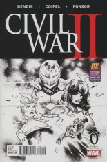 Civil War II (2016) #0 Variant K: SDCC 2016 Exclusive Black & White Cover