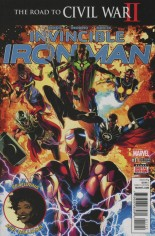 Invincible Iron Man (2015-2016) #11 Variant C: 2nd Printing