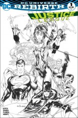 Justice League (2016-2018) #1 Variant J: Most Good Hobby Exclusive Sketch Variant Cover