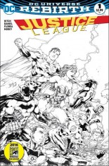 Justice League (2016-2018) #1 Variant P: Comic Hero U/Comic Madness Variant Black & White Cover