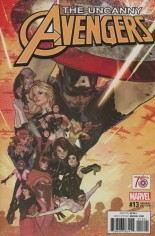 Uncanny Avengers (2015-Present) #13 Variant B: Incentive Captain America 75th Anniversary Variant Cover