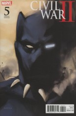Civil War II (2016) #5 Variant D: Incentive Black Panther Cover